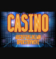jackpot casino neon lettering vector image vector image