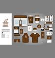 logo concept for coffee shop vector image vector image
