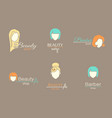 logo template - barbershop vector image