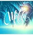 malibu california handwriting lettering vector image vector image