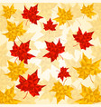 maple leaves in triangular style autumn vector image vector image