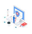 medical insurance isometric concept vector image vector image