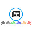 medical newspaper rounded icon vector image
