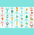 merry christmas big collection vector image