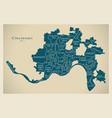 modern city map - cincinnati ohio city of the usa vector image vector image