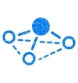Molecule Grainy Texture Icon vector image vector image