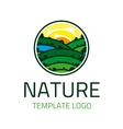 Nature template logo vector image vector image
