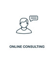 online consulting icon thin line style symbol vector image vector image