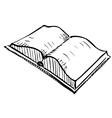 Open book sketch icon vector image vector image