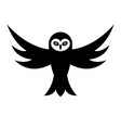 owl with open wings vector image vector image