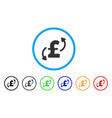 pound transfers rounded icon vector image vector image