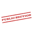 Public Section Watermark Stamp vector image vector image