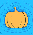 pumpkin sign sand color icon with black vector image vector image