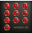 Red round buttons with number vector image vector image