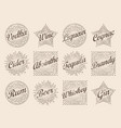 Retro design sunburst label radiant starburst for
