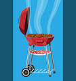 round barbecue grill bbq icon electric grill vector image vector image