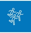 Running men line icon vector image vector image