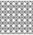 seamless black and white linear squares pattern vector image