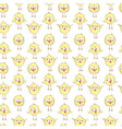 Seamless pattern with cute chikens vector image vector image