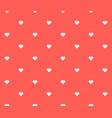 seamless pixel heart background vector image vector image