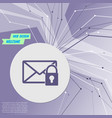 secret mail icon on purple abstract modern vector image vector image