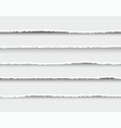 set oblong layers torn white paper vector image