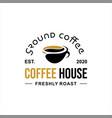 simple badge coffee shop vector image vector image