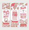 sketch french food vertical banners vector image vector image