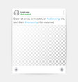 social photo frame template transparent vector image