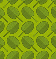 Spinach seamless pattern Fresh green ornament vector image vector image