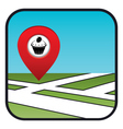 Street map icon with the pointer confectionery vector image vector image
