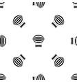 striped retro hot air balloon pattern seamless vector image vector image