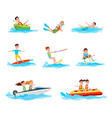 summer activity collection vector image vector image