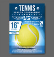 tennis poster banner advertising a4 size vector image vector image