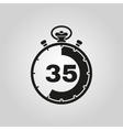 The 35 seconds minutes stopwatch icon Clock and vector image vector image