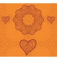 Valentine card design Ornamental orange flyer Love vector image vector image