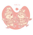 valentines day characters pair of cute bears vector image vector image