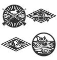 Vintage hunting emblems vector image vector image