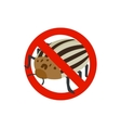 Warning sign with colorado potato beetle icon vector image vector image