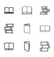 9 encyclopedia icons vector image vector image