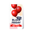 air balloons big sale black friday flyer special vector image vector image