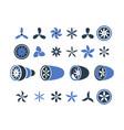 airplane engines propeller turbine symbols plane vector image vector image