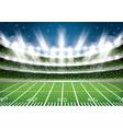 american football stadium arena vector image vector image