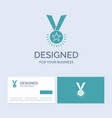 award honor medal rank reputation ribbon business vector image vector image