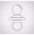baby pacifier icon vector image
