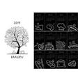 bakery calendar 2019 design vector image vector image