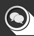 black and white round with two speech bubbles icon vector image