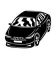 black car icon vector image