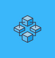block chain cryptocurrency modern icon or vector image