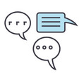 chats talking talks concept line icon vector image vector image